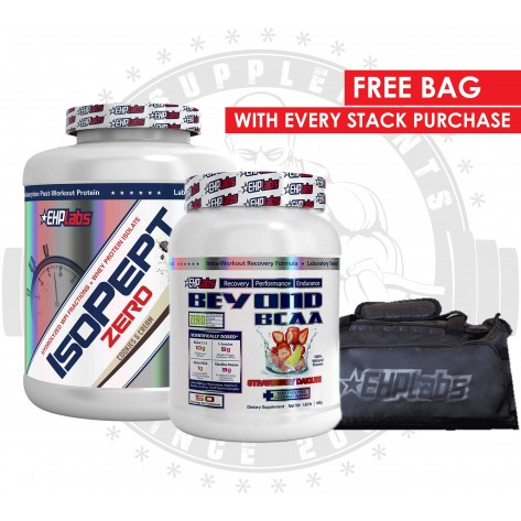 EHP LABS - Isopept Zero 5lb and Beyond BCAA 1lb free Bag Stack - Promotion