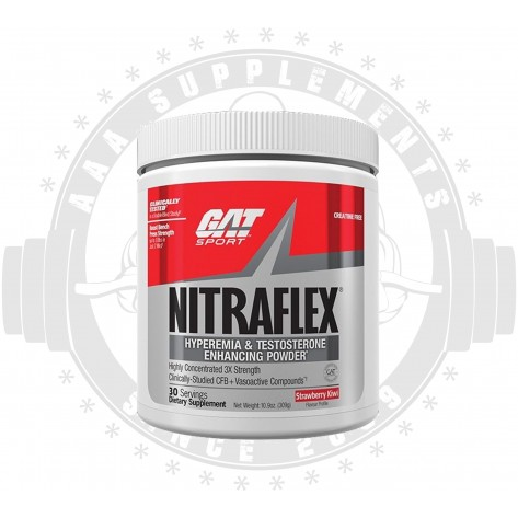 GAT | NITRAFLEX | CREATINE FREE - 300G - (30 SERVE)