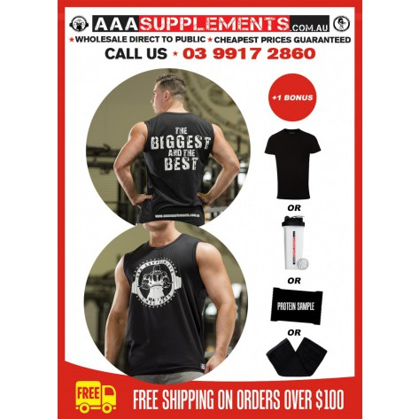 AAA 2017 | Muscle T | Sleeveless Gym Top | 100% Cotton | Premium Quality