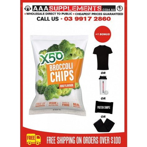 Tribeca Health   X50 Broccoli Chips   10 Pack