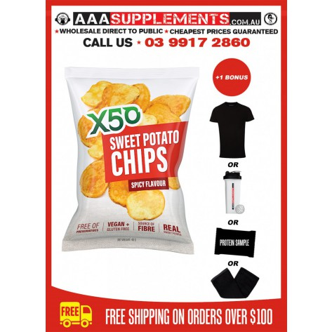 Tribeca Health | X50 Sweet Potato Chips | 10 Pack