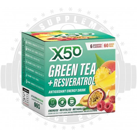 x50 - GREEN TEA + RESVERATROL