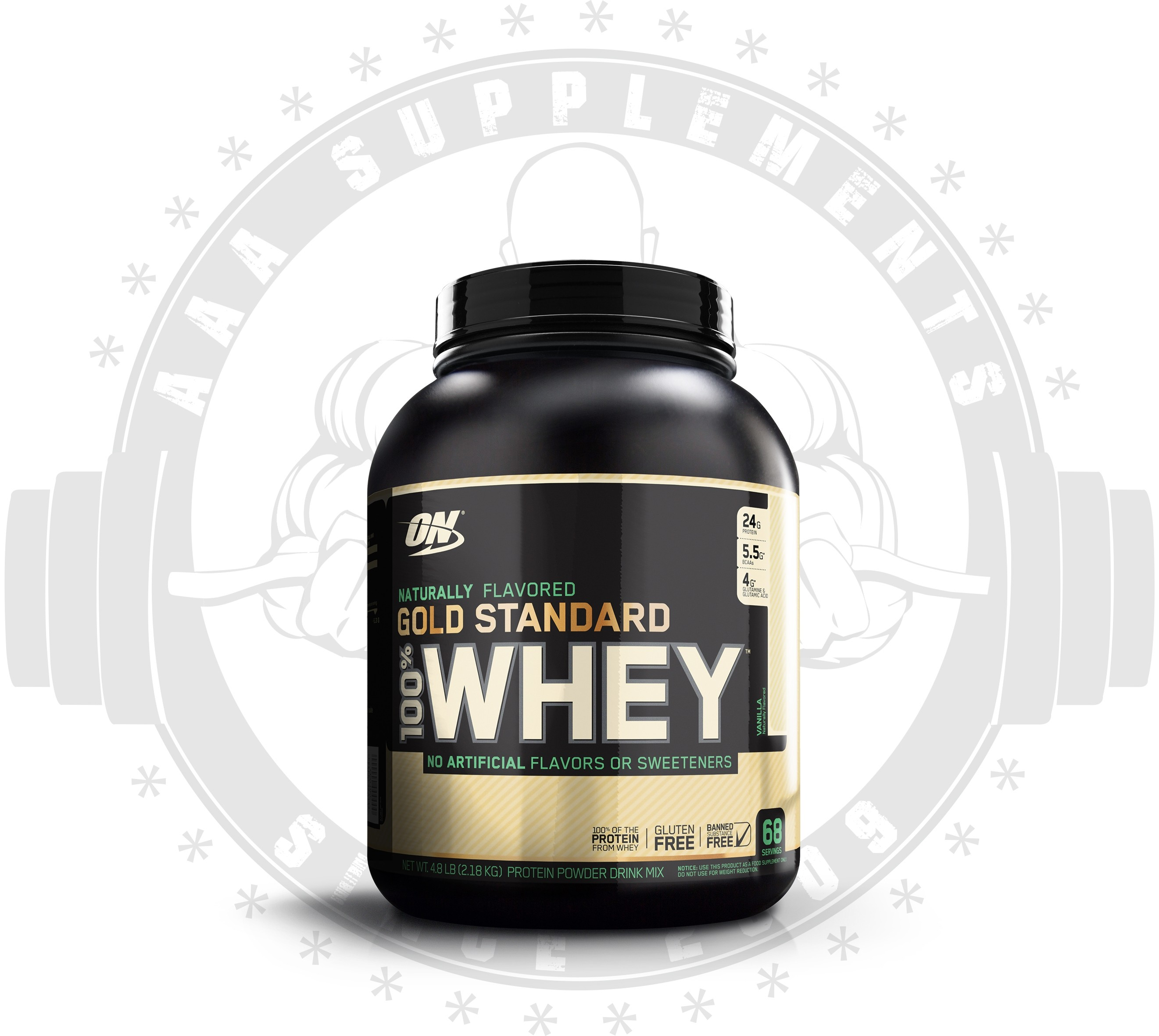 Aaa Supplements Optimum Nutrition 100 Gold Whey Natural