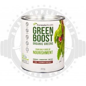 Formula Health - GREEN BOOST Certified Organic Greens Superfood - 30 SERVE (300g)