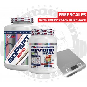 EHP LABS - Isopept Zero 5lb and Beyond BCAA 1lb free Scales Stack - Promotion