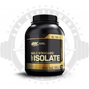 OPTIMUM NUTRITION - 100% GOLD STANDARD ISOLATE 2.3KG (76 SERVE) *BEST BEFORE 10/20* CLEARANCE