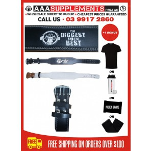 """AAA SUPPLEMENTS - 4"""" FULL LEATHER WEIGHTLIFTING BELT"""