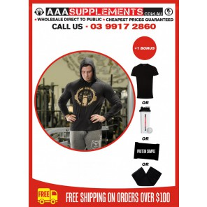 AAA 2017 | Long Sleeve Hooded Training Top | Premium Gold Print