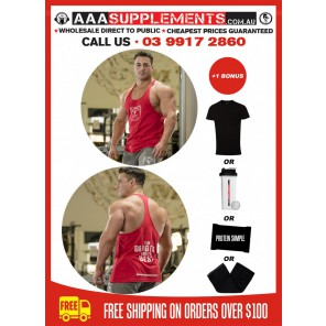 AAA 2017 | Men's T-Back | Singlet | 100% Cotton | Premium Quality