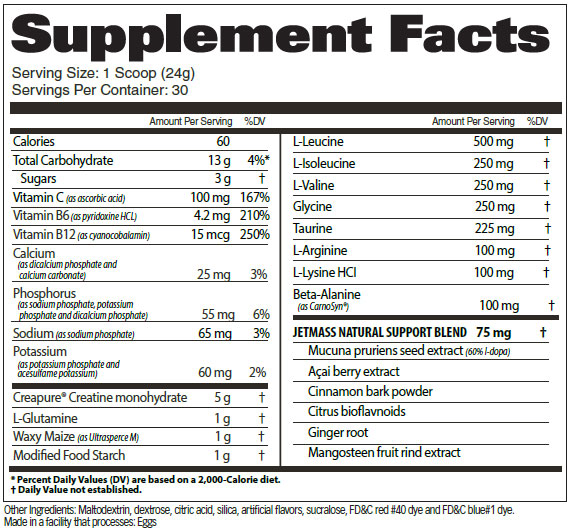 JETMASS-SUPPLEMENT-FACTS